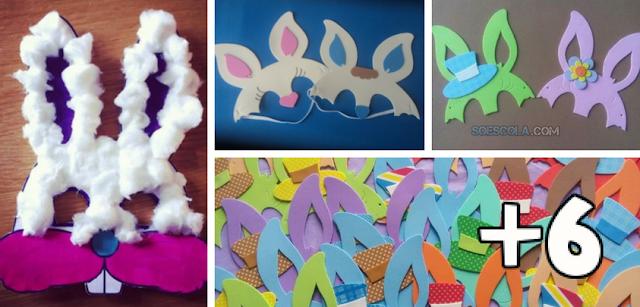 Máscaras de coelhinhos para páscoa