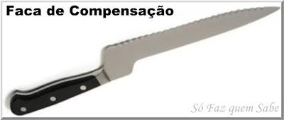Foto de uma Faca Compensada ou Faca com cabo de Compensação que em inglês é chamada de Delicatessen Knife
