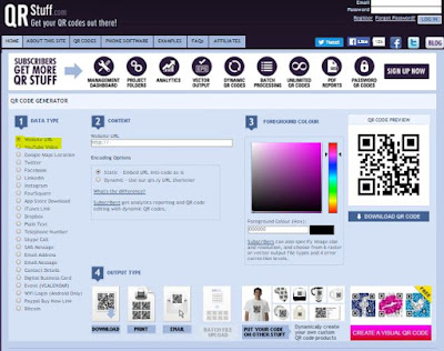 Easy QR Code Generator website