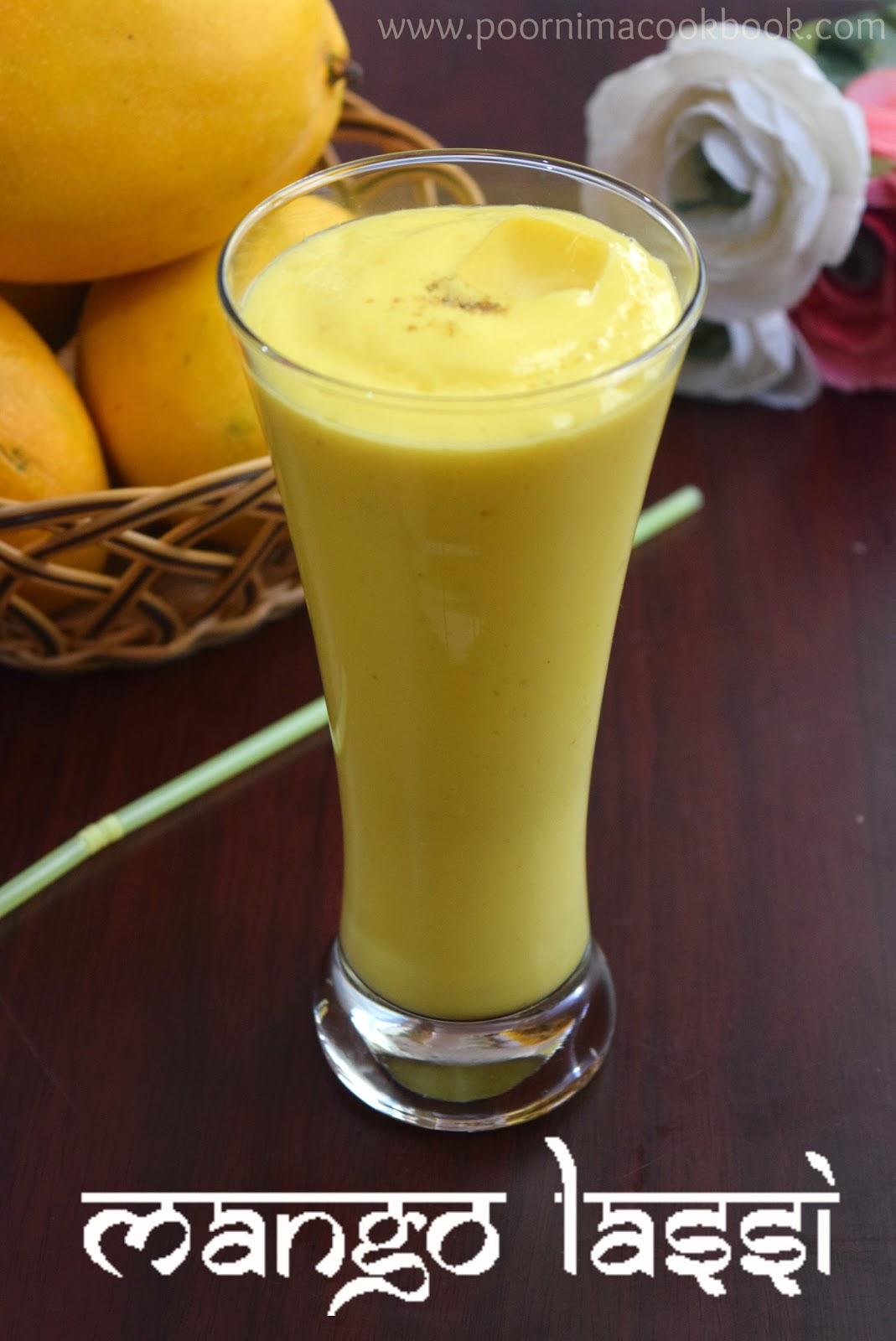 poornima amp  s cook book mango lassi summer special