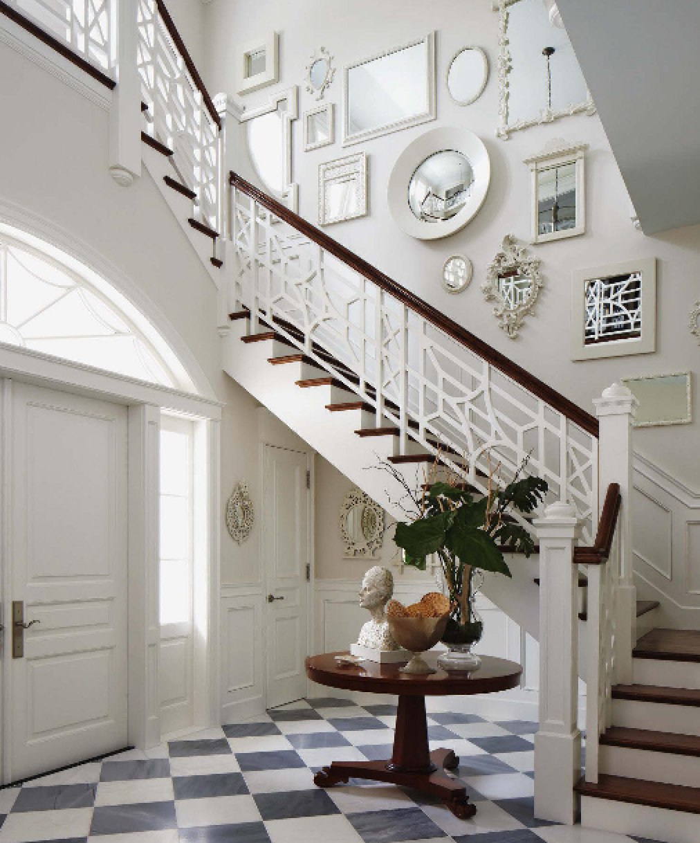 The Glam Pad A Blue And White Regency Bermuda In Palm Beach