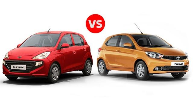 Hyundai Santro 2018 vs Tata Tiago Who wins?