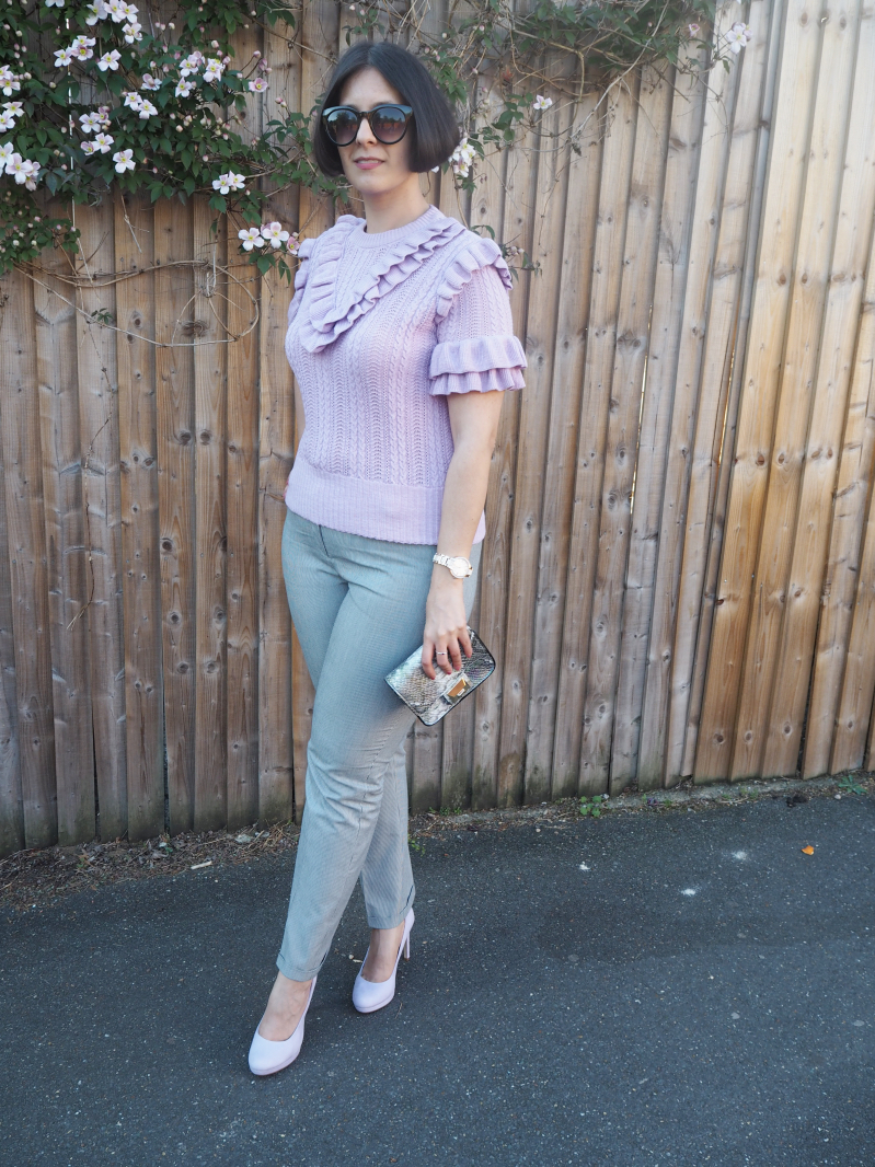 lavender frilled jumper