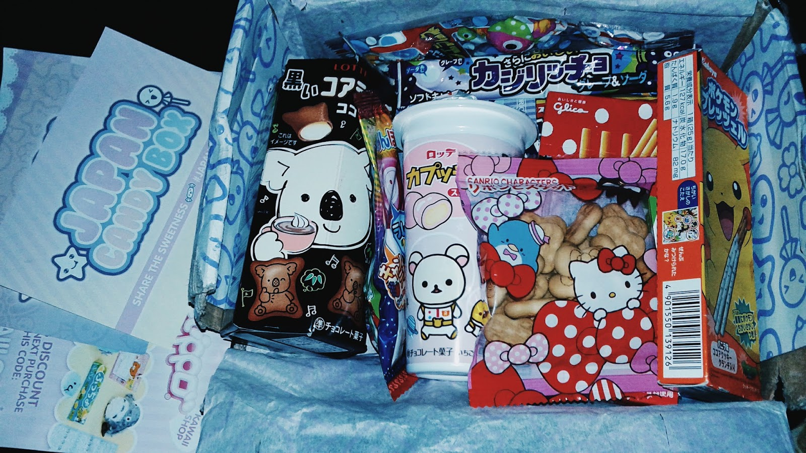 recebidos do sorteio do blog da medora com doces japonesas, a famosa japan candy box