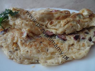 Omlet z wędliną