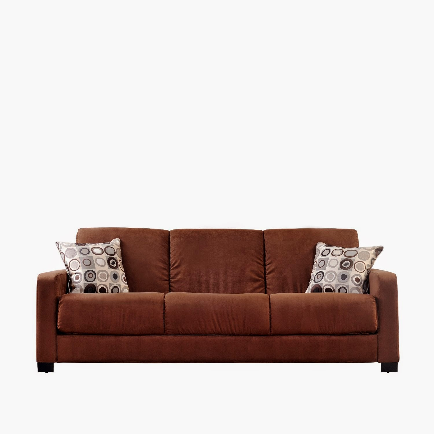 Brown Microfiber Sofa Bed Homeware Peyton Couch Beds