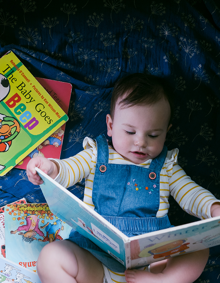 Our October library book haul of books for babies under 1