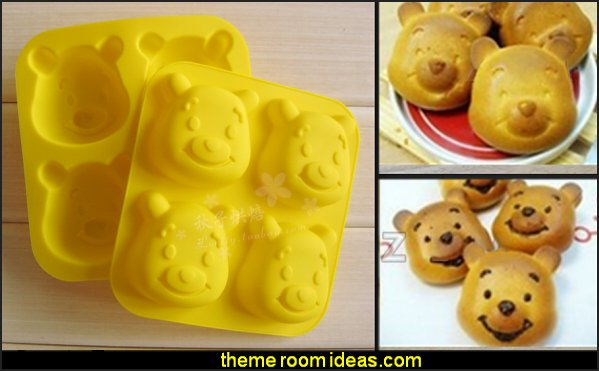 Winnie The Pooh Shapes Silicone Cake Mold Cartoon Bear Fondant Chocolate Cookie Soap Pudding Tools  bee themed party - bumble bee decorations - Bumble Bee Party Supplies - bumble bee themed party - Pooh themed birthday party - spring themed party - bee themed party decorations - bee themed table decorations - winnie the pooh party decorations - Bumblebee Balloon -  bumble bee costumes