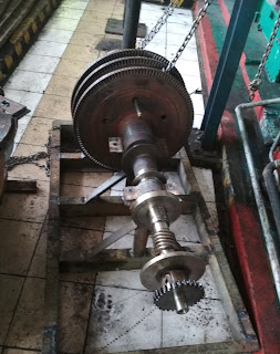 Shaft Turbin, Trust Bearing Turbin, Sudu Turbin, Turbin Uap, Steam Turbin