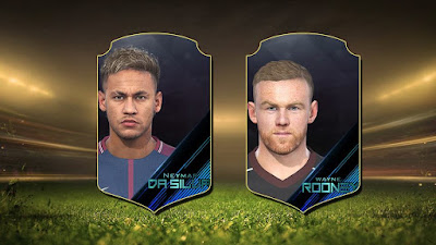 PES 2018 Faces by Robert Facemaker ( Rooney and Neymar )