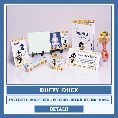 http://www.bebestudio11.com/2016/12/modele-asortate-botez-duffy-duck.html