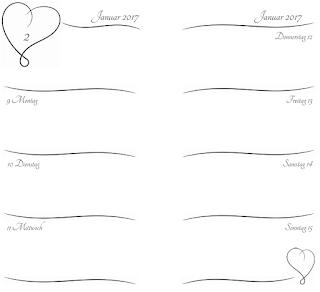 Vorschaubild der Kalendereinlagen für 2017 (Valentine, Personal, deutsch)