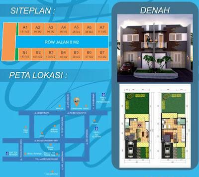 siteplan peta denah rumah casa azalea bintaro