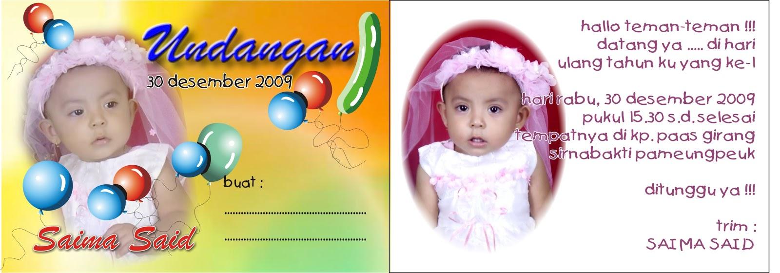 Kartu Undangan Kartu Undangan Ulang Tahun Anak Ukuran 10 4 X 7 2 Cm