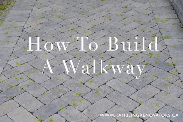 DIY video on how to build a walkway