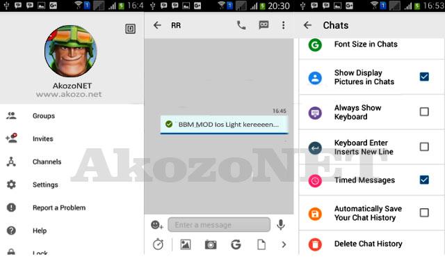 BBM merupakan aplikasi sosial media populer di IOS dan Android, BBM Mod IOS memberikan tampilan Iphone di android yang modis dan elegan namun tetap ringan di gunakan,  BBM Mod IOS Light v10 APK Download v3.0.0.18 Clone + Not Clone bisa di download secara gratis di situs www.akozo.net BBM Mod IOS Light v10 APK v3.0.0.18 Not Clone, BBM Mod IOS Light v10 APK terbaru, BBM Mod IOS Light v10 APK clone, BBM Mod IOS Light APK generasi 10, BBM Mod IOS Light v10 fitur terbaru, BBM Mod IOS Light v10 info aplikasi,