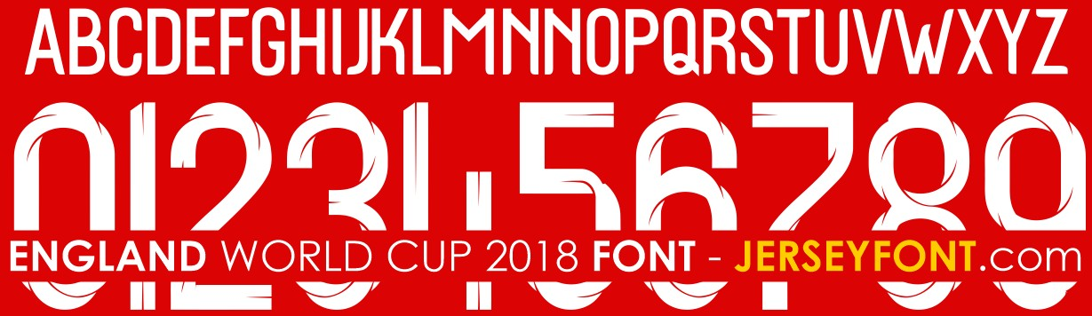 England World Cup 2018 Font