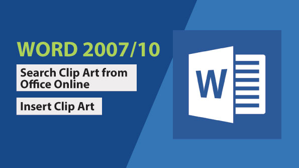 Image for How to search and insert clip art in word document
