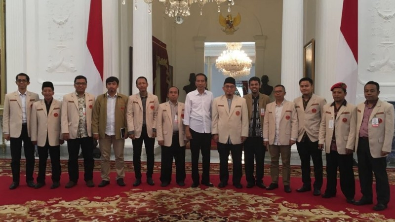 Pemuda Muhammadiyah bertemu Jokowi