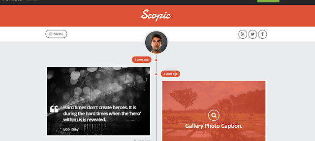scopic- WordPress Tumblr theme