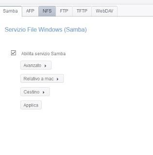 Condivisione file NAS