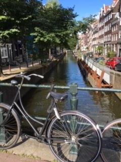 canals in amsterdam, bikes, karfelt