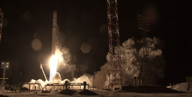 Zenit rocket launches AngoSat-1 on December 26. Photo Credit: Roscosmos