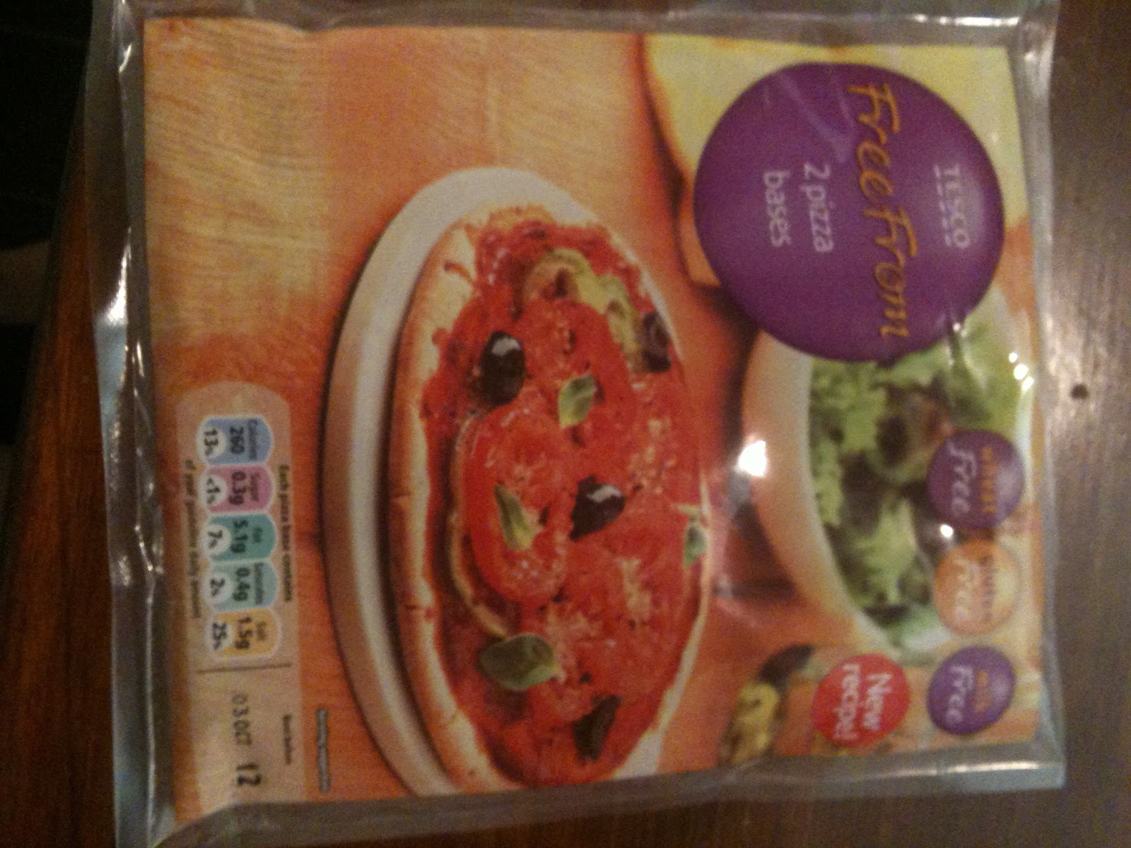 Free From G Tesco Gluten Free Pizza Bases