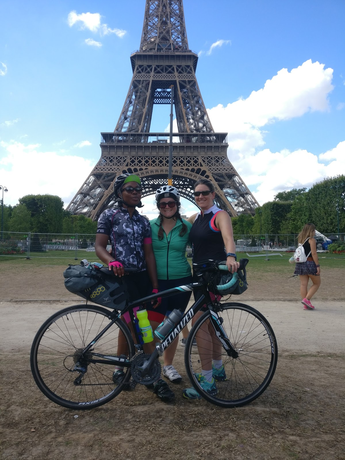 The three of us after LONDON TO PARIS ride