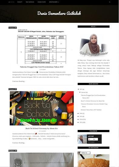 Wajah Baru Blog 2017