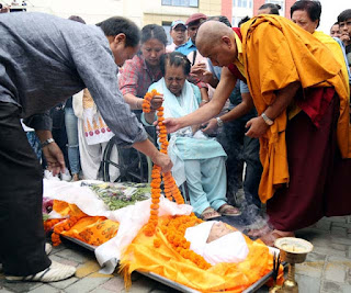 Bina Gurung wife of Amber pays last tribute to her husband