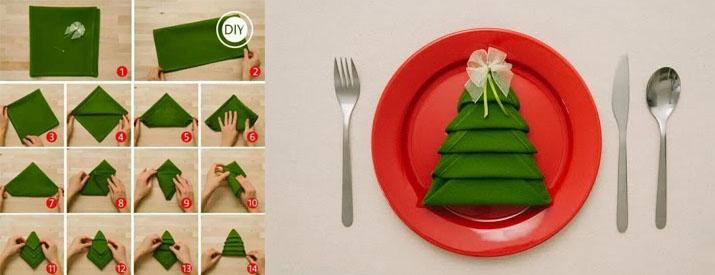 christmas tree napking