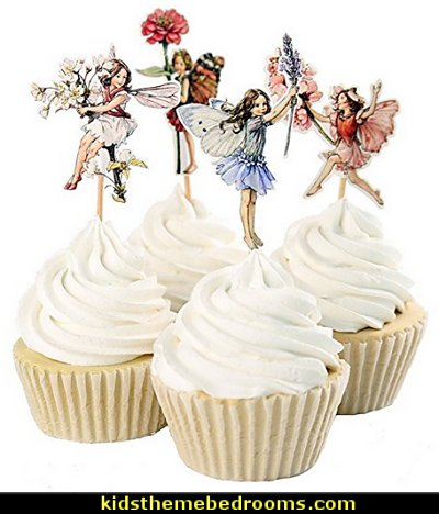 Fairy Cupcake Toppers for Cake Decorations Baby Girls Children Kids Toddlers Teens Birthday Supplies Bridal Shower Wedding Favors