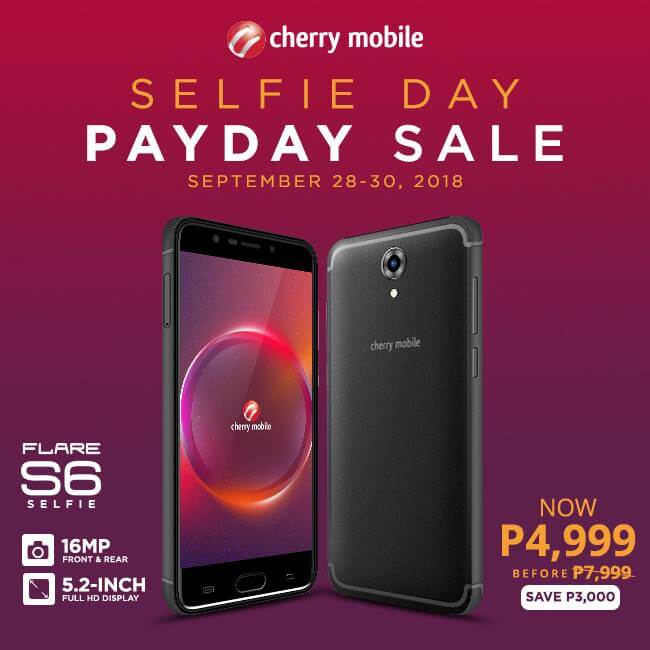 Cherry Mobile Announces Selfie Day Payday Sale!