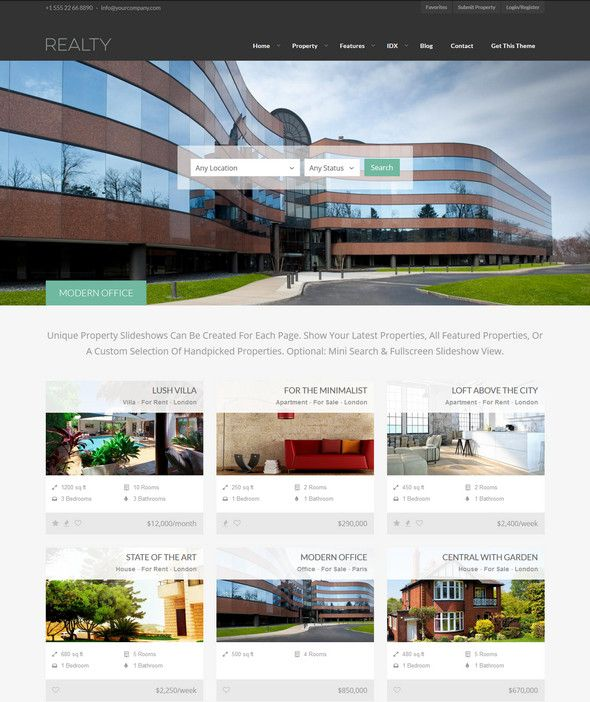 30 Best Responsive Real Estate WordPress Themes - Designsmag.org