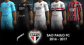 Kits Sao Paulo 2016 - 2017 Pes 2013 By Master2016