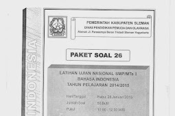 SOAL TPM BAHASA INDONESIA KABUPATEN SLEMAN 2015 (Paket 26-30)