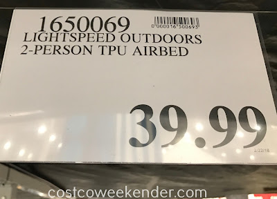 Deal for the Lightspeed Outdoors 2-person TPU Airbed at Costco