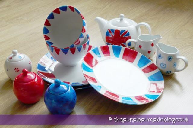 Diamond Jubilee Hand Painted Crockery Plates Bowls Jugs Teapot Jars