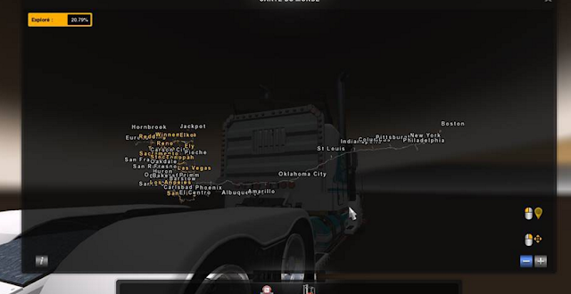 American Truck Simulator New States Map Download MODs