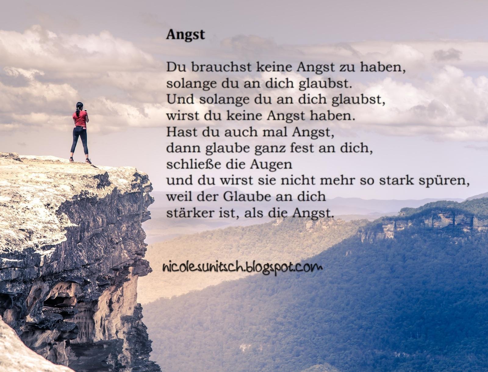 Gedichte Von Nicole Sunitsch Autorin Spruche Angst Aus Dem
