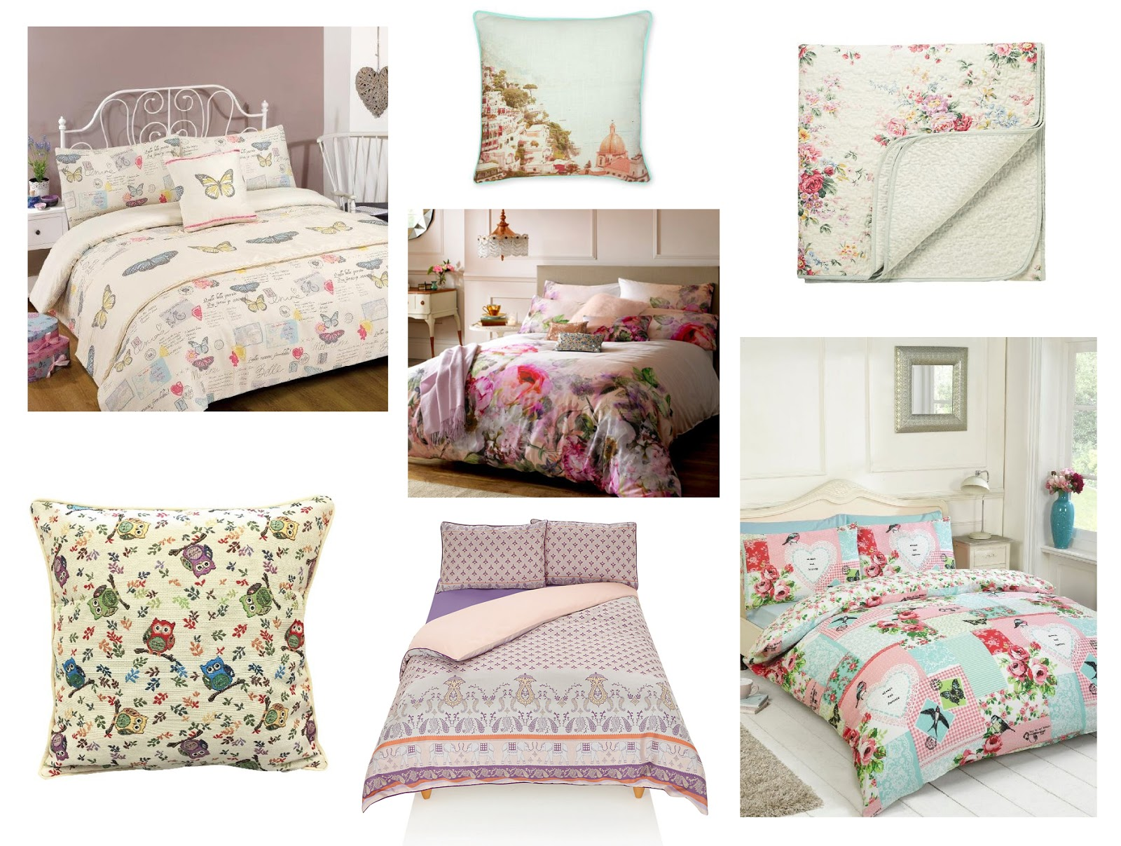 Bedding For Changing Your Bedroom Atomsphere: Patterns Moodboard | Katie Kirk Loves