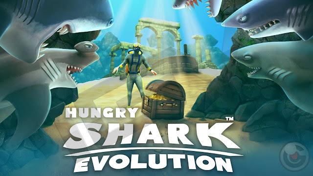 تحميل لعبة Hungry Shark Evolution v4.5.0  مهكرة للاندرويد (اخر اصدار)