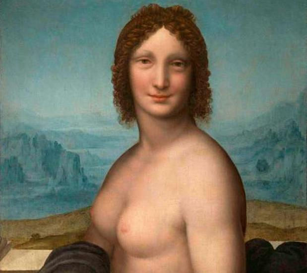 La Gioconda, al desnudo en Chantilly