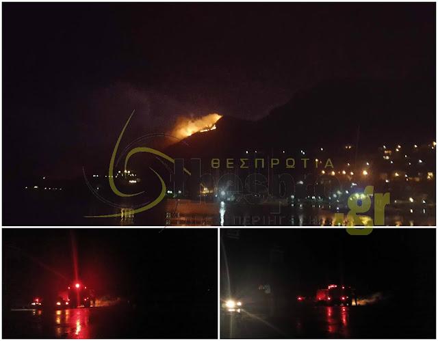 Πυρκαγιά από κεραυνό ξέσπασε στην Πλαταριά Ηγουμενίτσας (+ΦΩΤΟ)