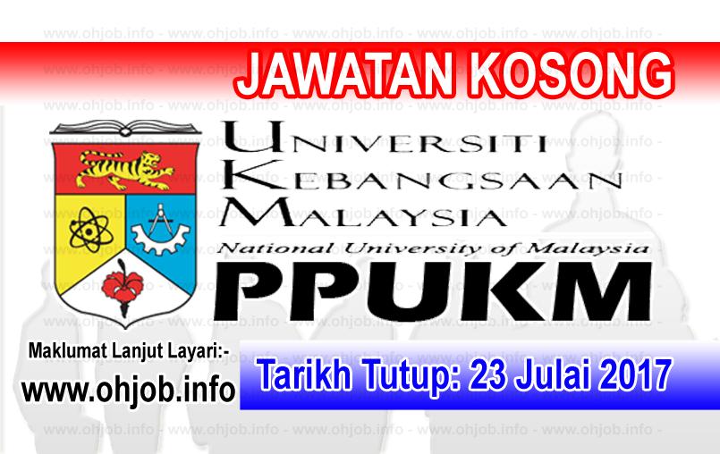 Jawatan Kerja Kosong PPUKM logo www.ohjob.info julai 2017