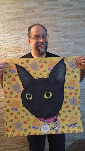 Seu gatinho em desenho para decorar sua casa.