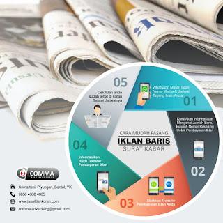 Pasang Iklan Baris Kendaraan, Properti, ragam kebutuhan hingga Lowongan Pekerjaan di Koran Hub : 085643384005