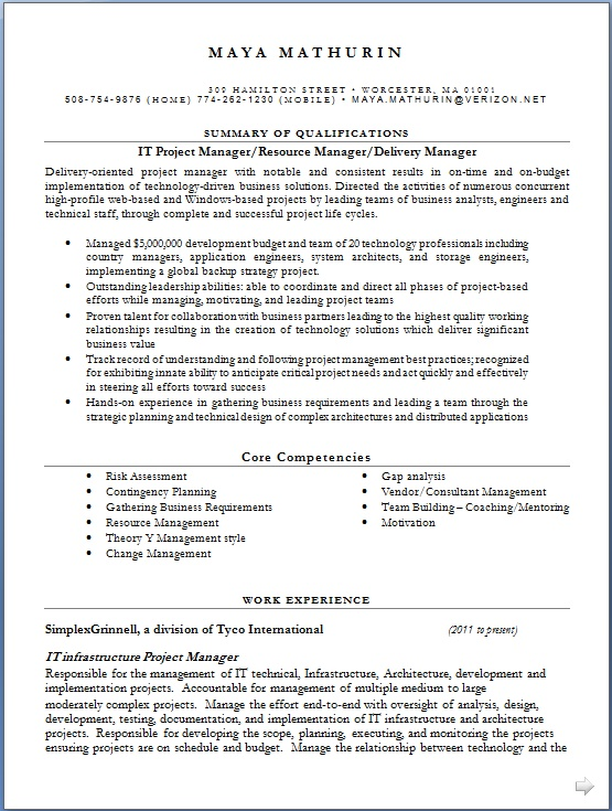 senior project manager resume resume of it manager crafty senior