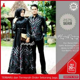 GMS316 TJWR317B136 Batik Couple Gamis Kemeja Motif Dropship SK2089518673